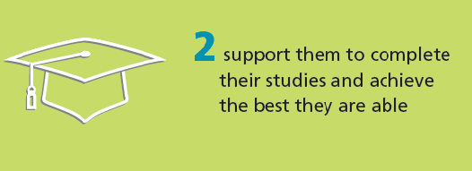 We challenge institutions to support disadvantaged students during their studies